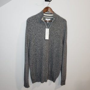 NWT Calvin Klein Gray Quarter Zip Sweater Size XL